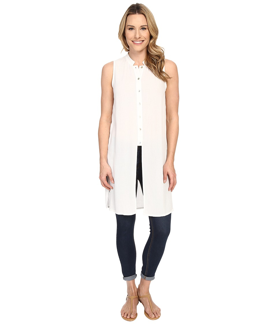 B Collection by Bobeau - Embry Sleeveless Slit Tunic (Ivory) Women's Blouse