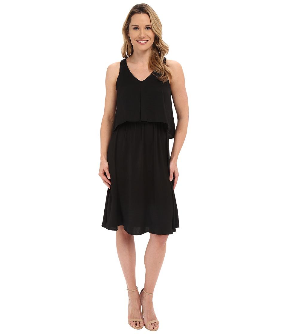 B Collection by Bobeau Chelsea Layer Tank Dress (Black) Women