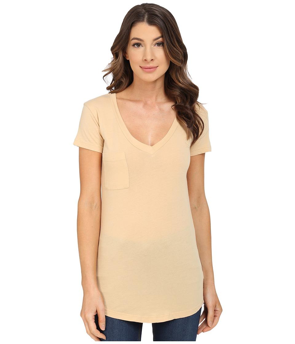 LAmade - V-Pocket Tee - Tissue Jersey (Bauxite) Women's Short Sleeve Pullover