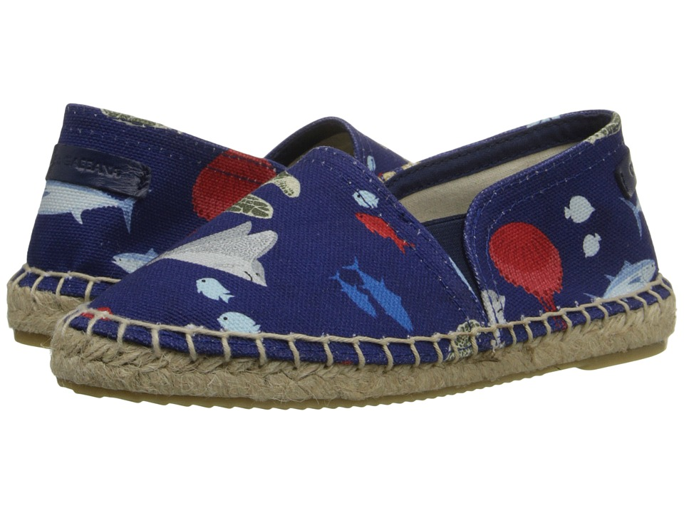 Dolce & Gabbana Kids - Fish Printed Canvas Espadrille (Little Kid/Big Kid) (Dark Blue) Boys Shoes