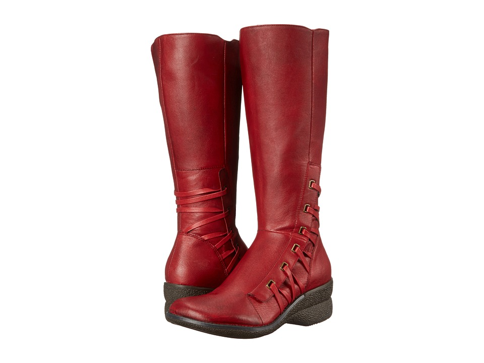 Miz Mooz - Orson Wide Calf (Red) Women's Dress Boots