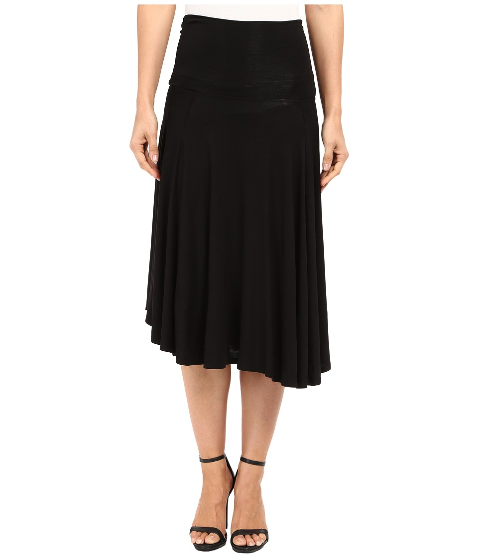 B Collection by Bobeau Carrie Knit Circle Skirt (Black) Women