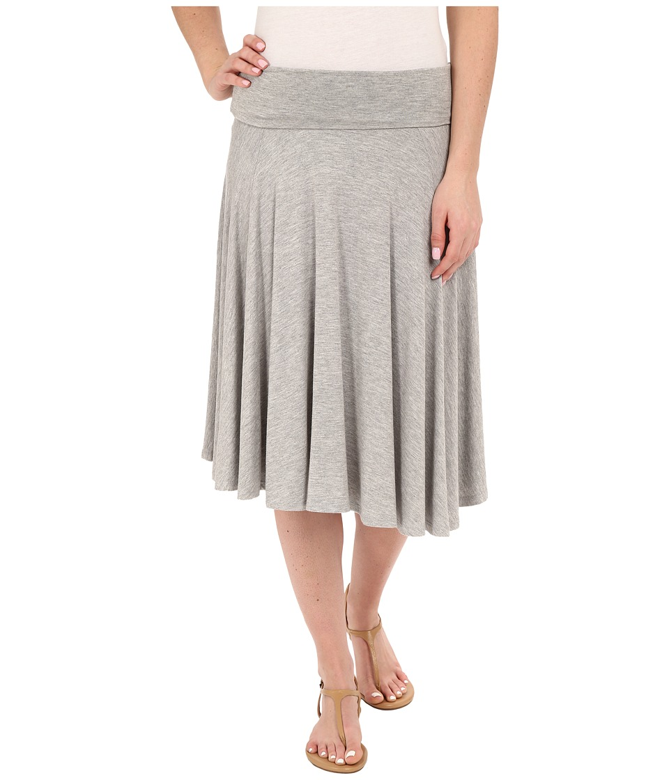 B Collection by Bobeau Carrie Knit Circle Skirt (Heather Grey) Women