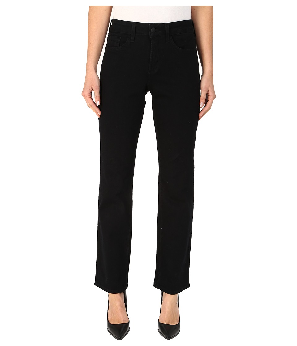 NYDJ - Marilyn Straight in Black (Black) Women's Jeans