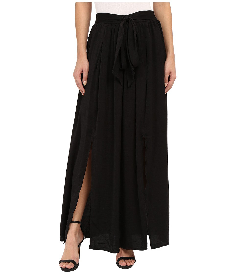 B Collection by Bobeau - Rosemary High Slit Maxi (Black) Women's Skirt