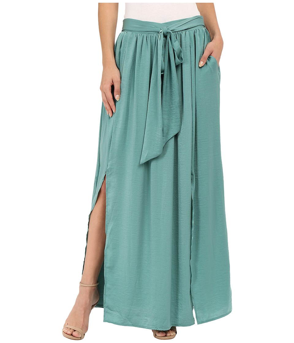 B Collection by Bobeau - Rosemary High Slit Maxi (Teal) Women's Skirt