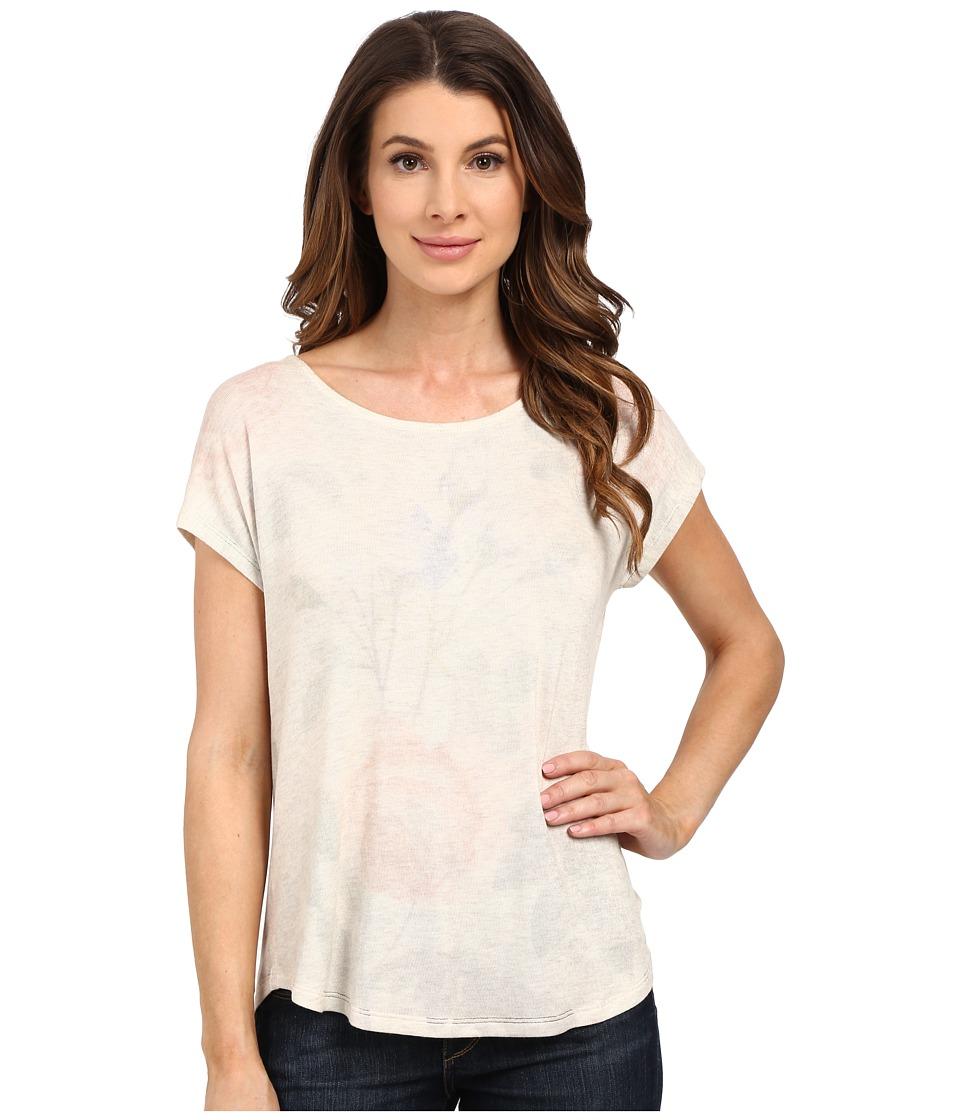 B Collection by Bobeau - Flora Floral Print T-Shirt (Oatmeal) Women's T Shirt