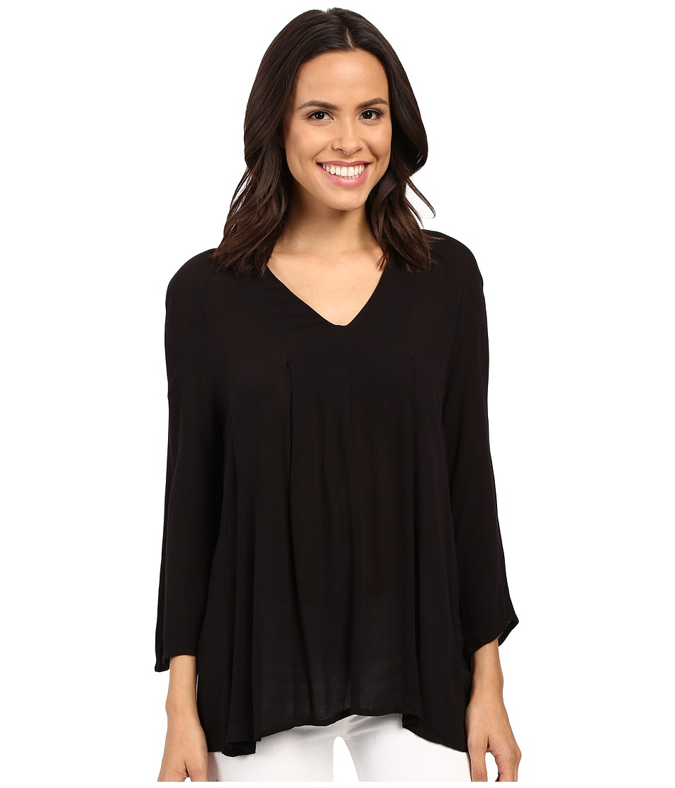 B Collection by Bobeau - Chris Pintuck Blouse (Black) Women's Blouse