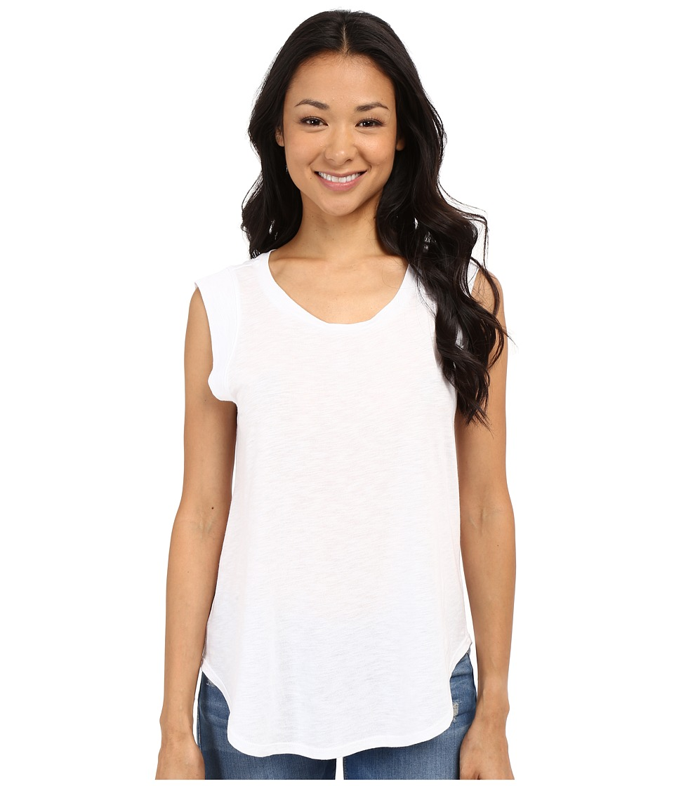 B Collection by Bobeau - Iris Muscle T-Shirt (White) Women's Short Sleeve Pullover