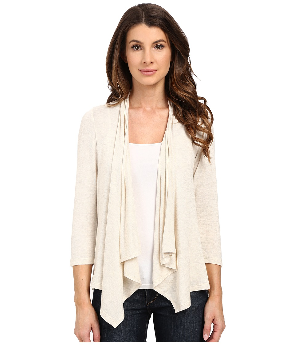B Collection by Bobeau - Primrose Printed Cardigan (Oatmeal) Women's Sweater