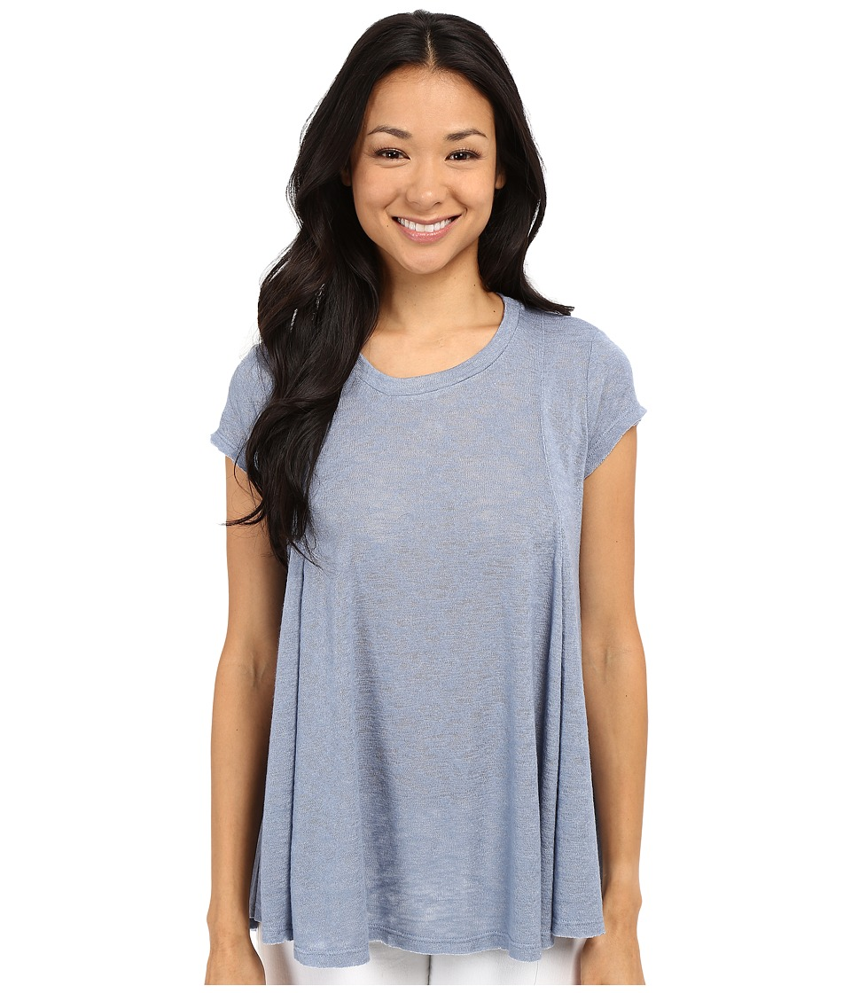 B Collection by Bobeau - Posy Swing Knit T-Shirt (Dusty Blue) Women's T Shirt