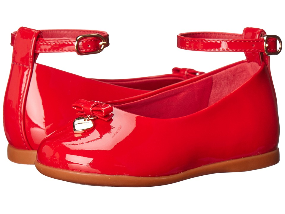 Dolce & Gabbana Kids - Patent Leather Ballerina (Toddler) (Red) Girls Shoes
