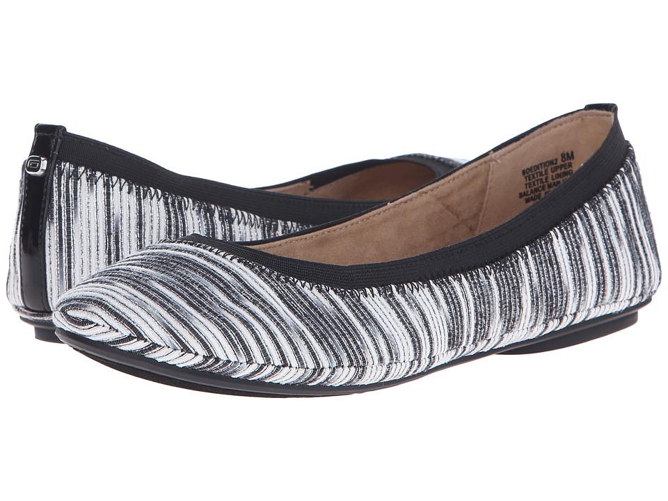 Bandolino - Edition (Black Combo Fabric) Women's Flat Shoes