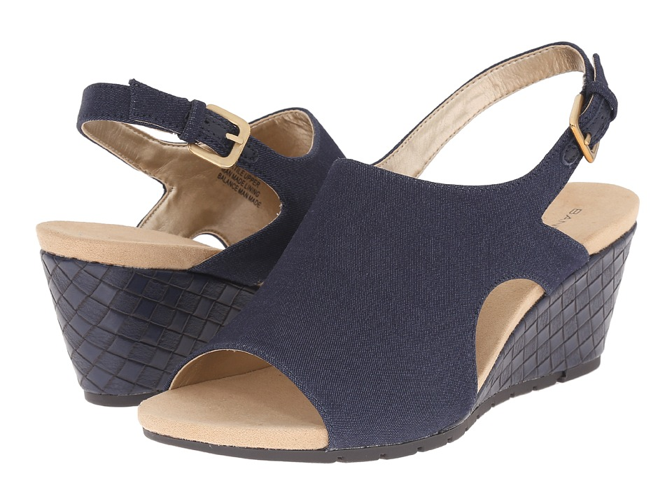 Bandolino - Galatee (Navy Fabric) Women's Shoes