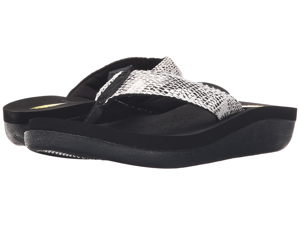 VOLATILE - Sango (Black/White/Black) Women's Sandals