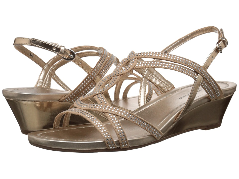 Bandolino - Gilnora (Light Gold/Light Gold Fabric) Women's Shoes