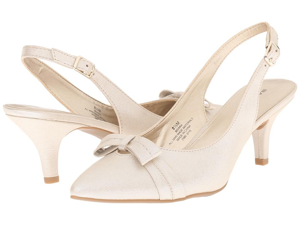 Bandolino - Iara (Gold/Gold Synthetic) Women's Shoes