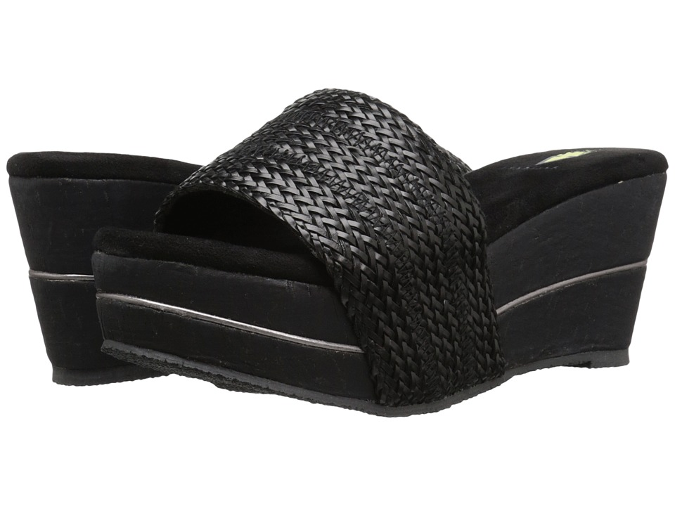 VOLATILE - Weaved (Black) Women's Wedge Shoes