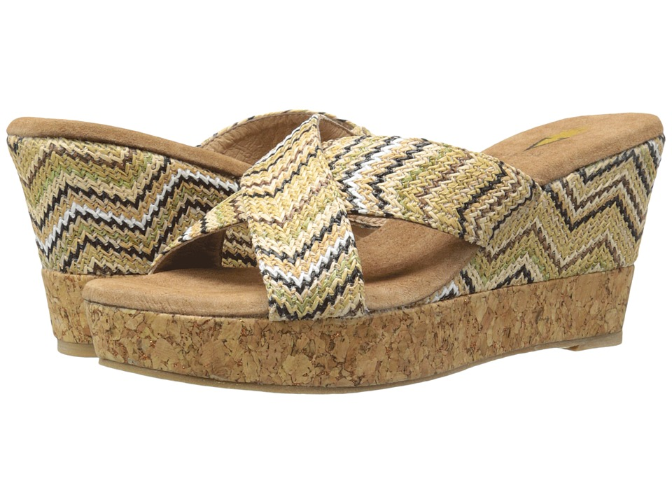 VOLATILE - Lita (Natural Multi) Women's Wedge Shoes