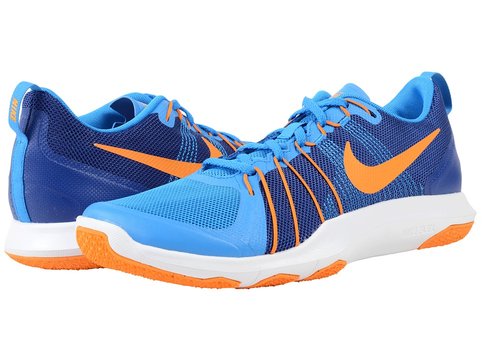 Nike - Flex Train Aver (Photo Blue/Vivid Orange) Men's Cross Training Shoes