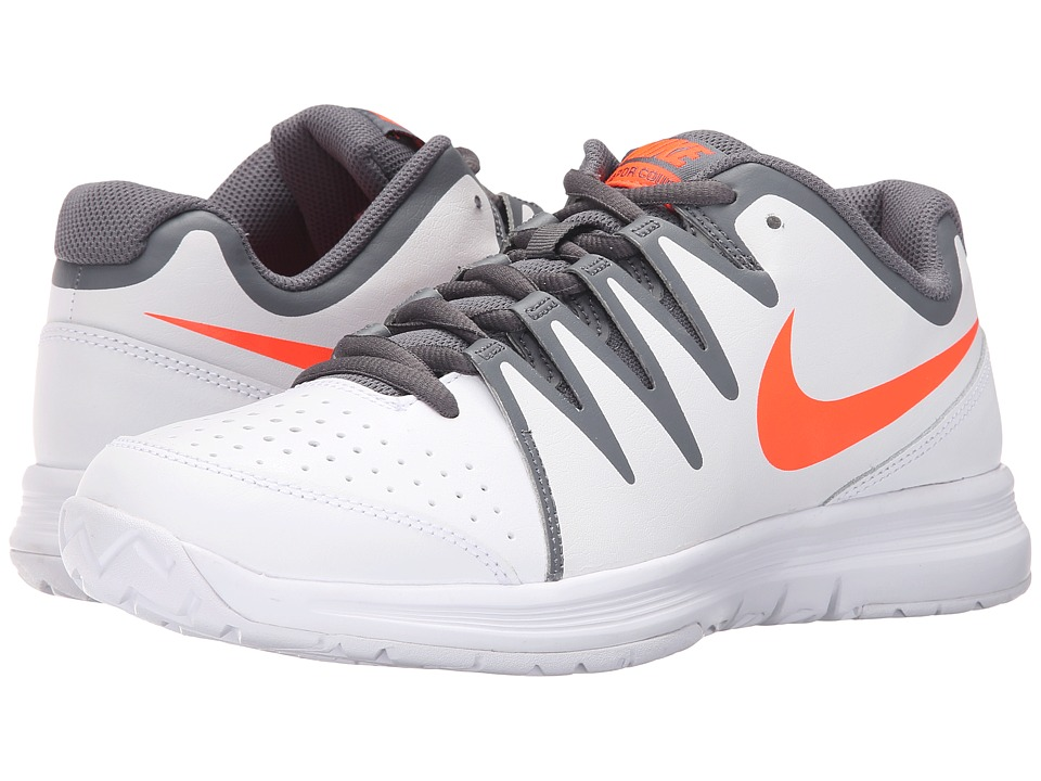 Nike - Vapor Court (White/Total Crimson/Dark Grey/Black) Men's Tennis Shoes