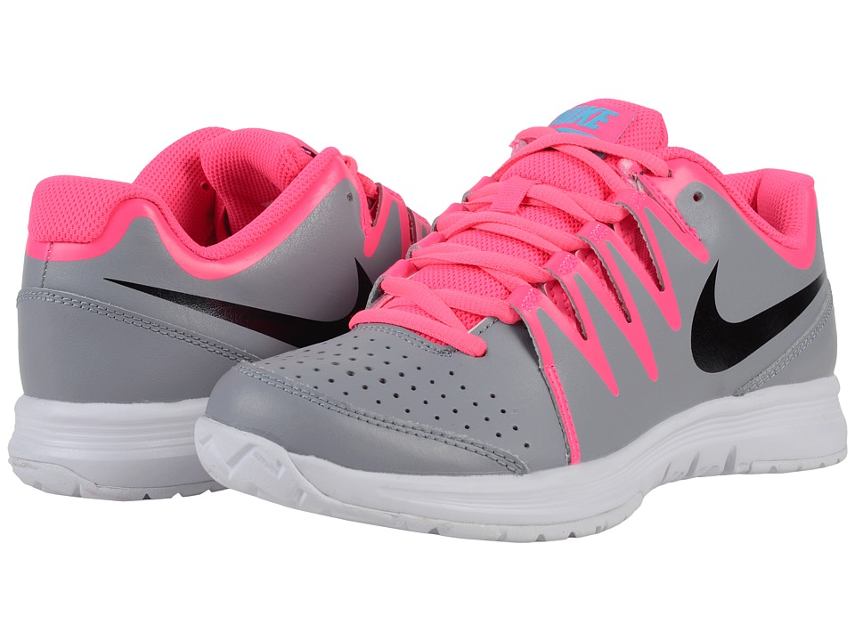 Nike - Vapor Court (Stealth/Black/Hyper Pink/White/Gamma Blue/Dynamic Berry) Women's Tennis Shoes