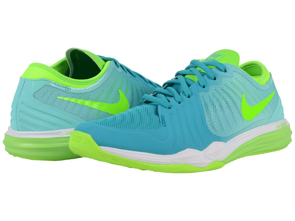 Nike - Dual Fusion TR 4 Print (Energy/Electric Green/Hyper Turquoise/Hyper Jade/White) Women's Cross Training Shoes