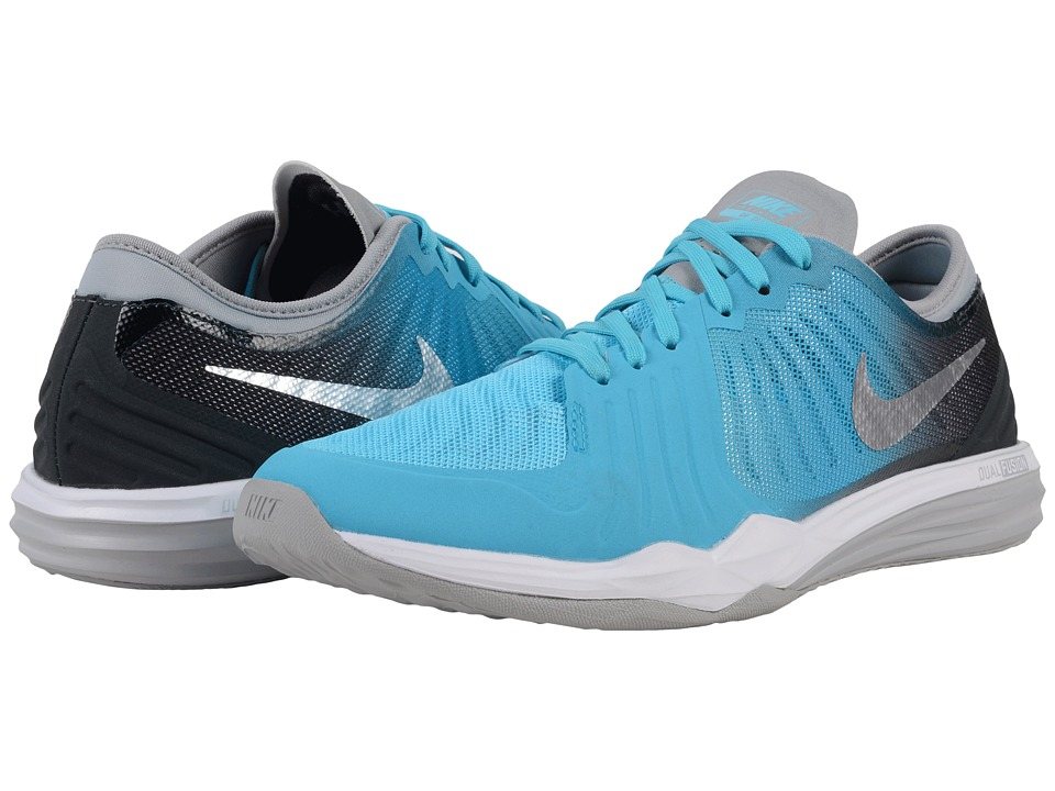 Nike - Dual Fusion TR 4 Print (Gamma Blue/Metallic Silver/Anthracite/Blue Lagoon/Silver/White) Women's Cross Training Shoes