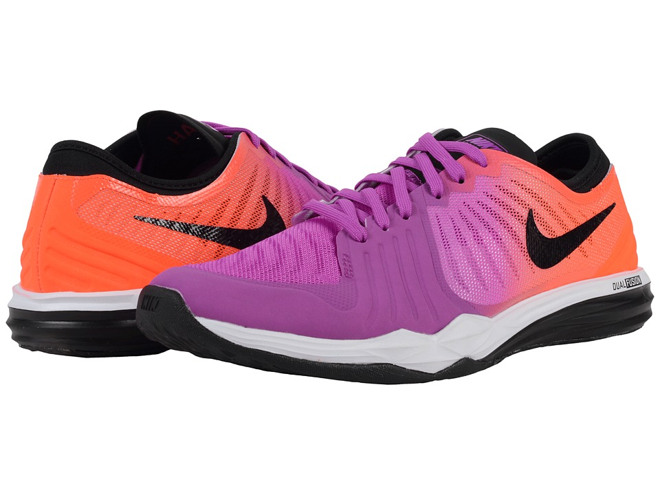 Nike - Dual Fusion TR 4 Print (Hyper Violet/Black/Total Crimson/Fire Pink/White) Women's Cross Training Shoes