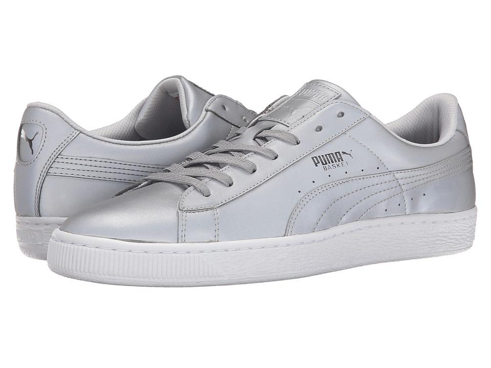 PUMA - Basket Reflective (Silver Metallic/Black) Men's Lace up casual Shoes