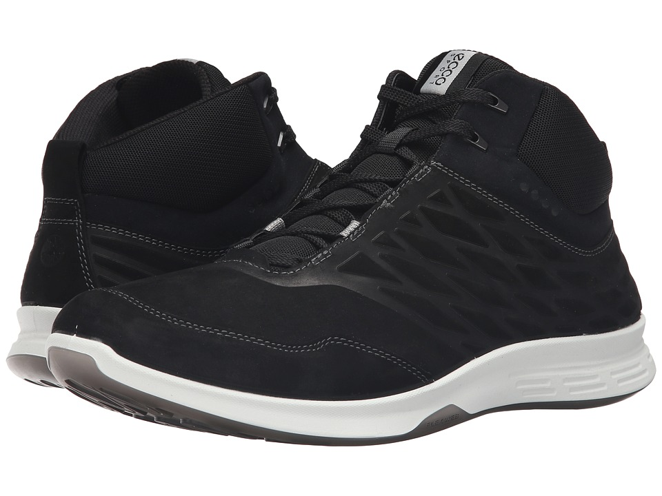 ECCO Sport - Exceed High (Black) Men's Tennis Shoes