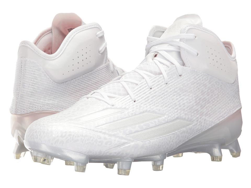 adidas - adizero 5-Star 5.0 Mid Football (FTWR White/FTWR White/FTWR White) Men's Cleated Shoes