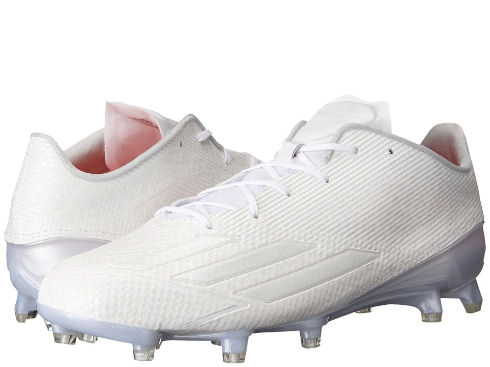 adidas - adizero 5-Star 5.0 Football (White/White/White) Men's Cleated Shoes