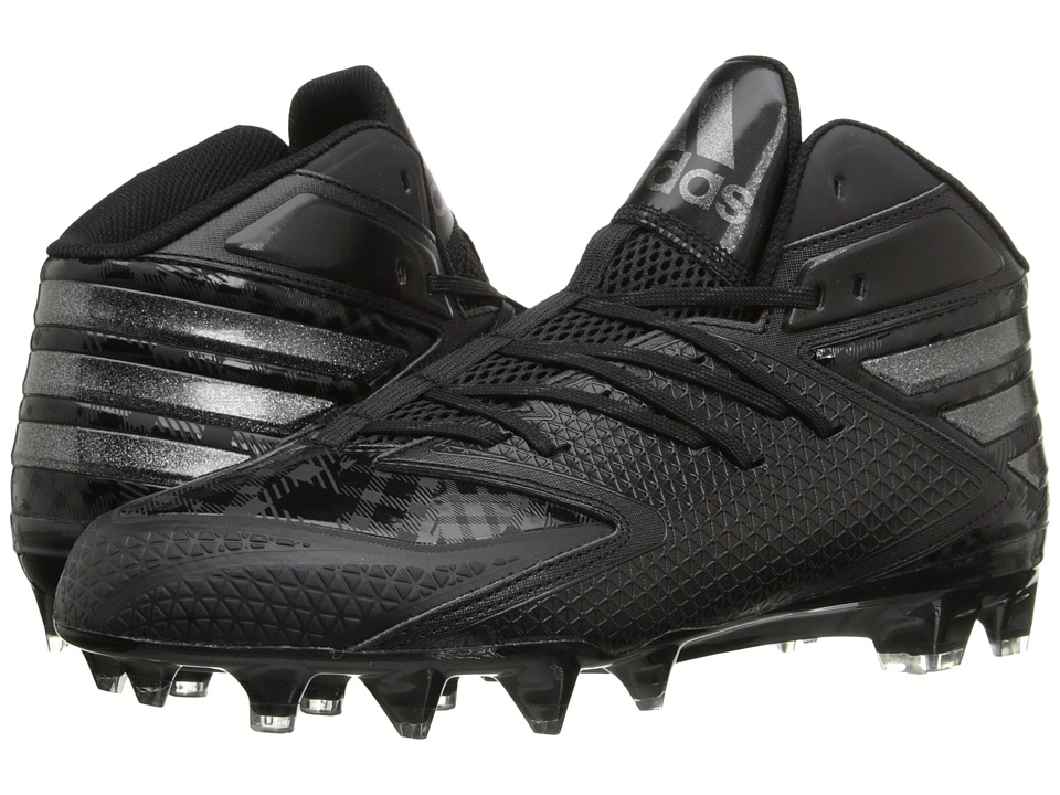 adidas - freak X CARBON Mid Football (Core Black/Core Black/Core Black) Men's Cleated Shoes