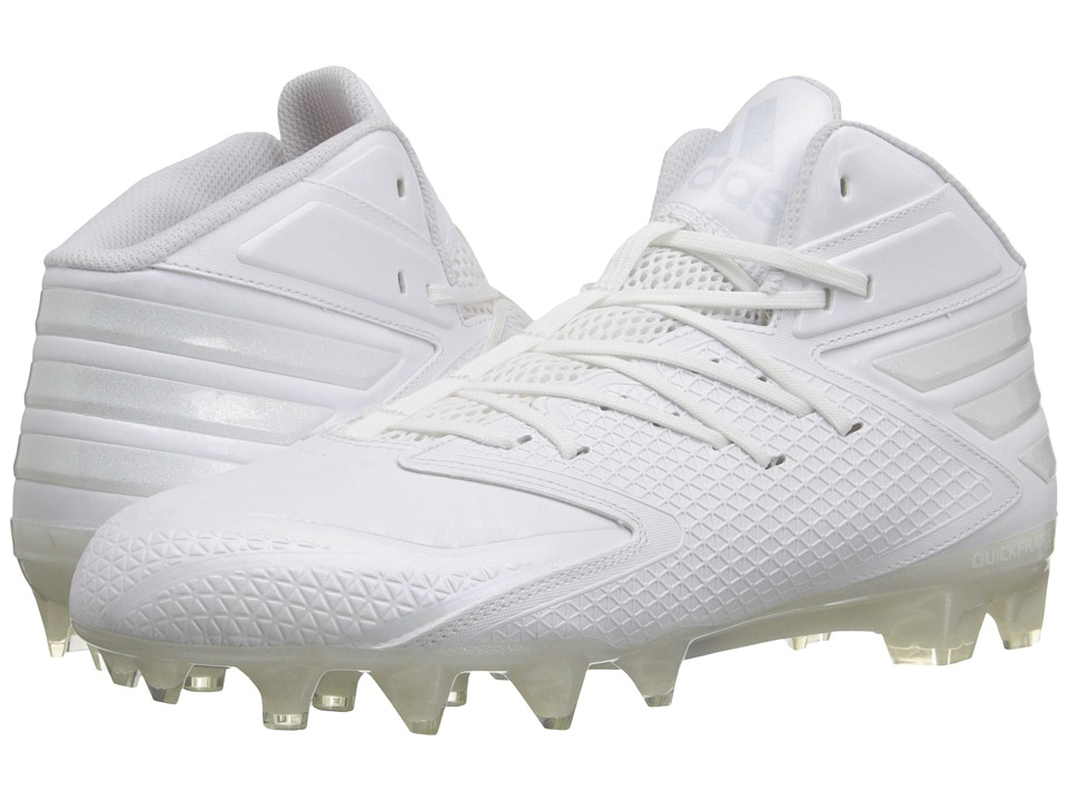 adidas - freak X CARBON Mid Football (White/White/White) Men's Cleated Shoes