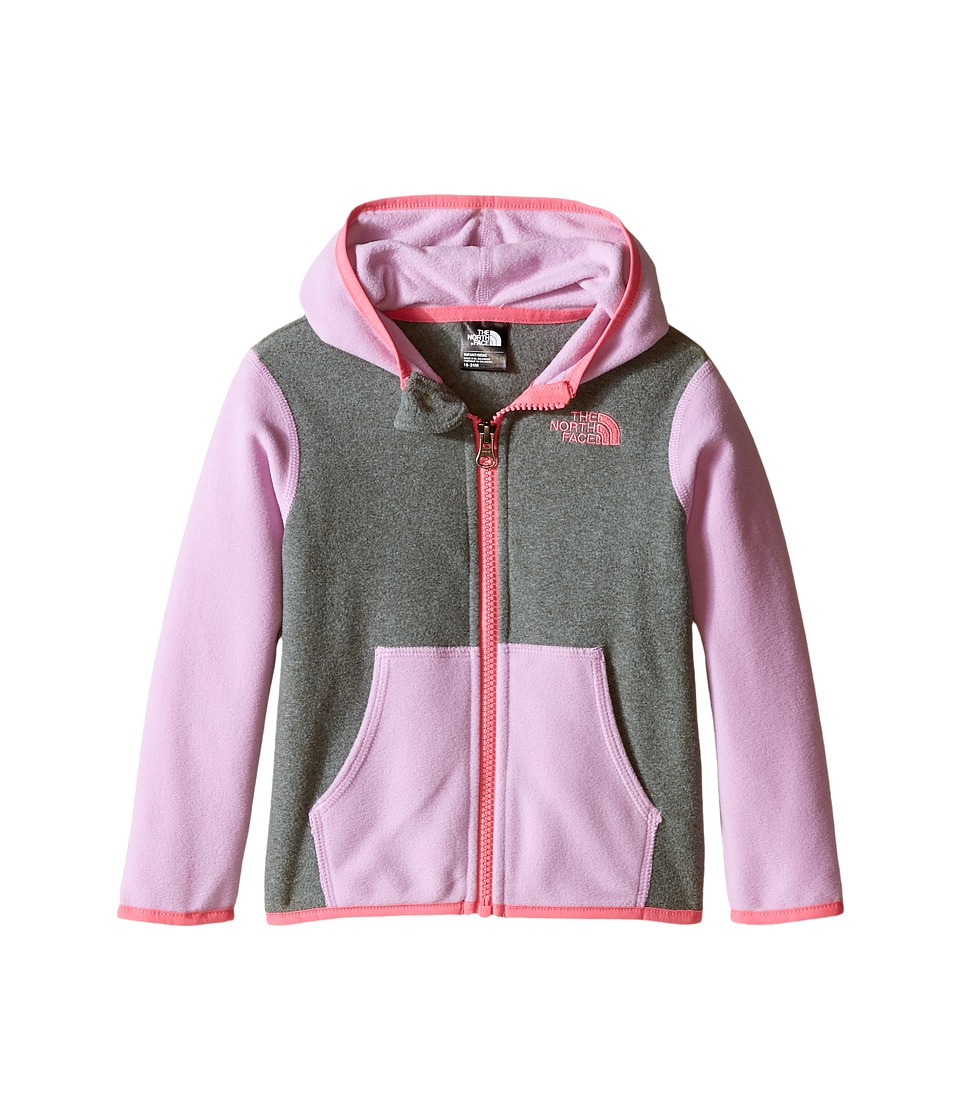 The North Face Kids - Glacier Full Zip Hoodie (Infant) (TNF Medium Grey Heather) Girl's Sweatshirt