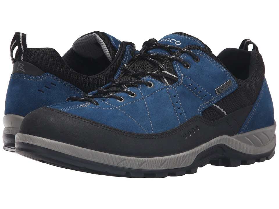 ECCO Sport - Yura GTX (Black/Poseidon) Men's Lace up casual Shoes