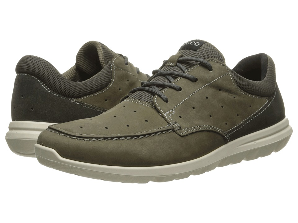 ECCO Sport - Calgary Moc (Tarmac/Dark Shadow) Men's Lace Up Moc Toe Shoes