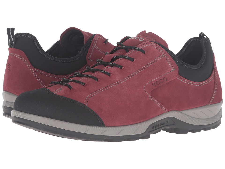 ECCO Sport - Yura Moc Toe (Black/Port) Men's Walking Shoes