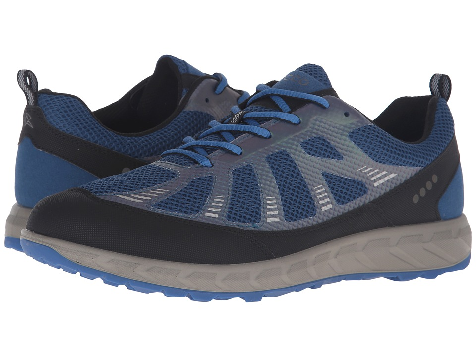 ECCO Sport - Terratrail (Black/Poseidon/Bermuda Blue) Men's Lace up casual Shoes
