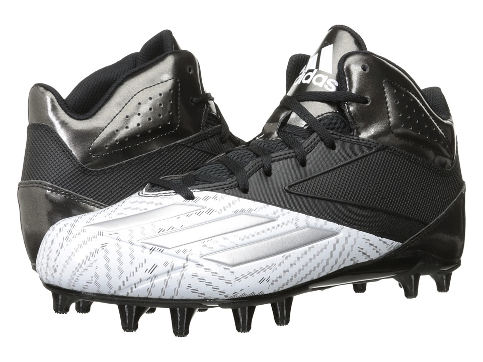 adidas - 5-Star Mid Football (Black/Platinum/White) Men's Cleated Shoes