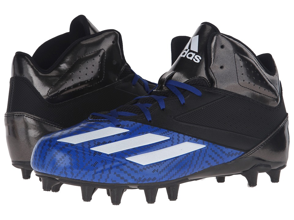 adidas - 5-Star Mid Football (Black/White/Collegiate Royal) Men's Cleated Shoes