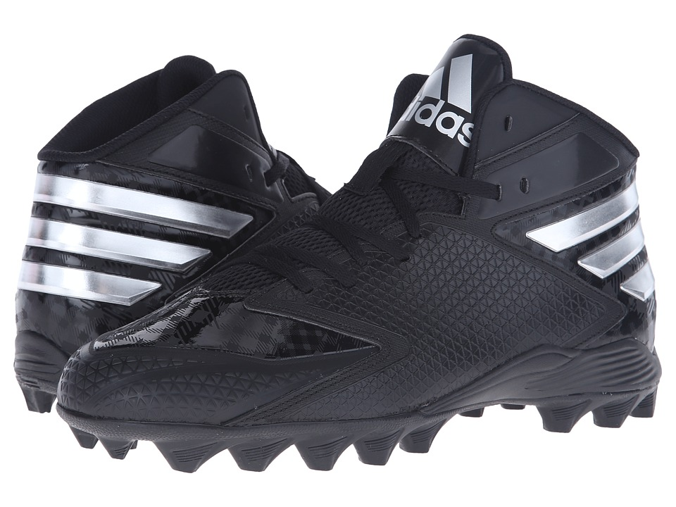adidas - Filthyquick 3.0 Mid Football (Black/Platinum/Platinum) Men's Cleated Shoes