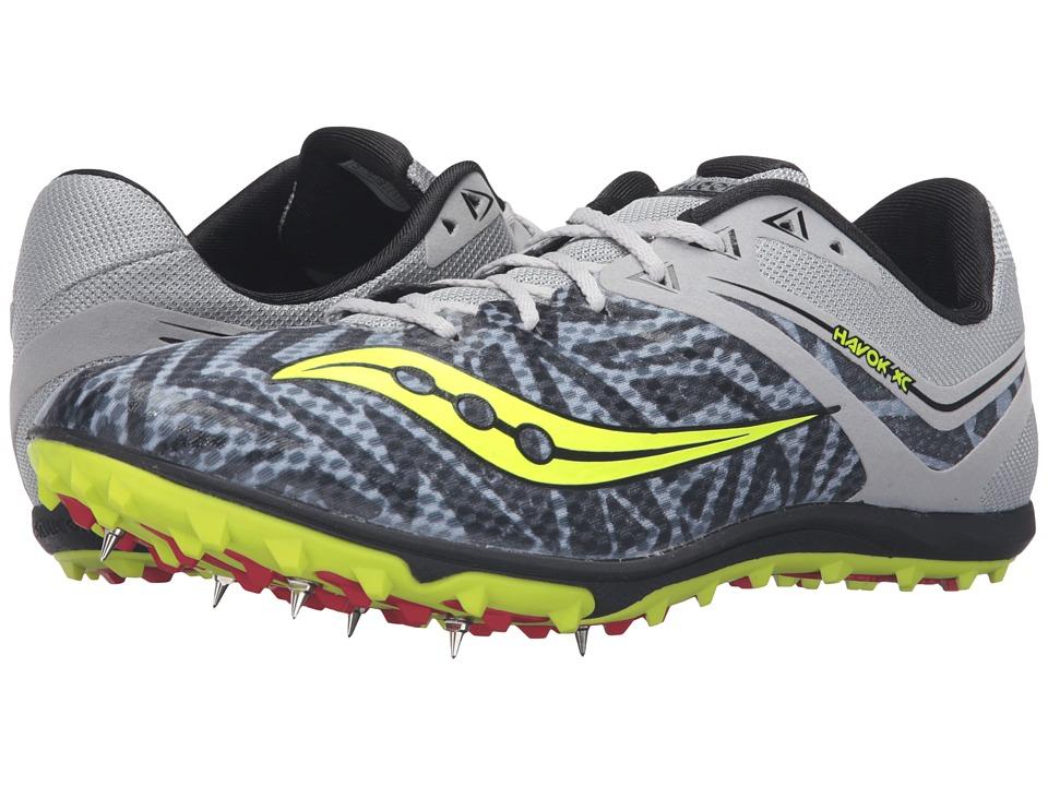 Saucony - Havok XC Spike (Silver/Citron) Men's Track Shoes