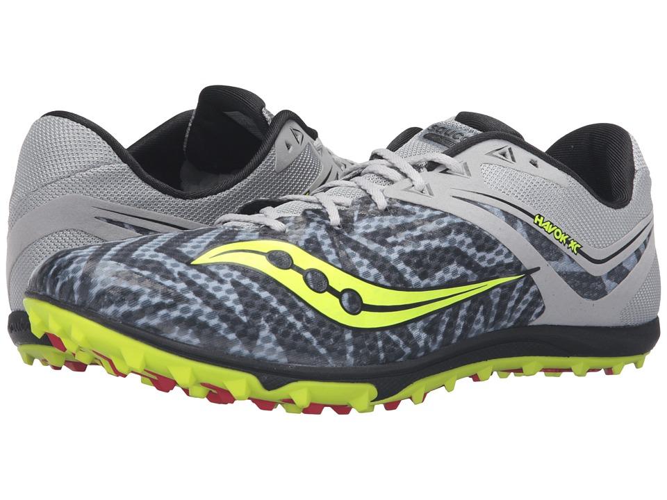 Saucony - Havoc XC Flat (Silver/Citron) Men's Track Shoes