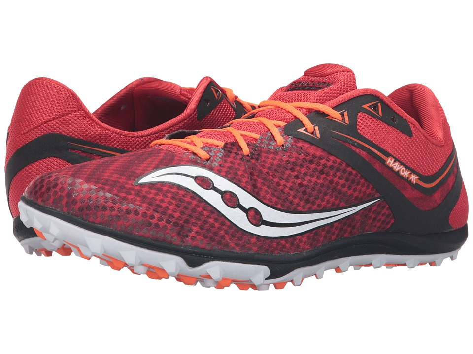 Saucony - Havoc XC Flat (Red/White/Citron) Men's Track Shoes