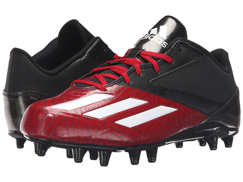 adidas - 5-Star Low Football (Black/White/Power Red) Men's Cleated Shoes