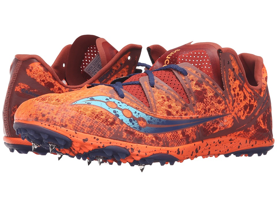 Saucony - Carrera XC Spike (Vizi Orange/Blue) Men's Track Shoes