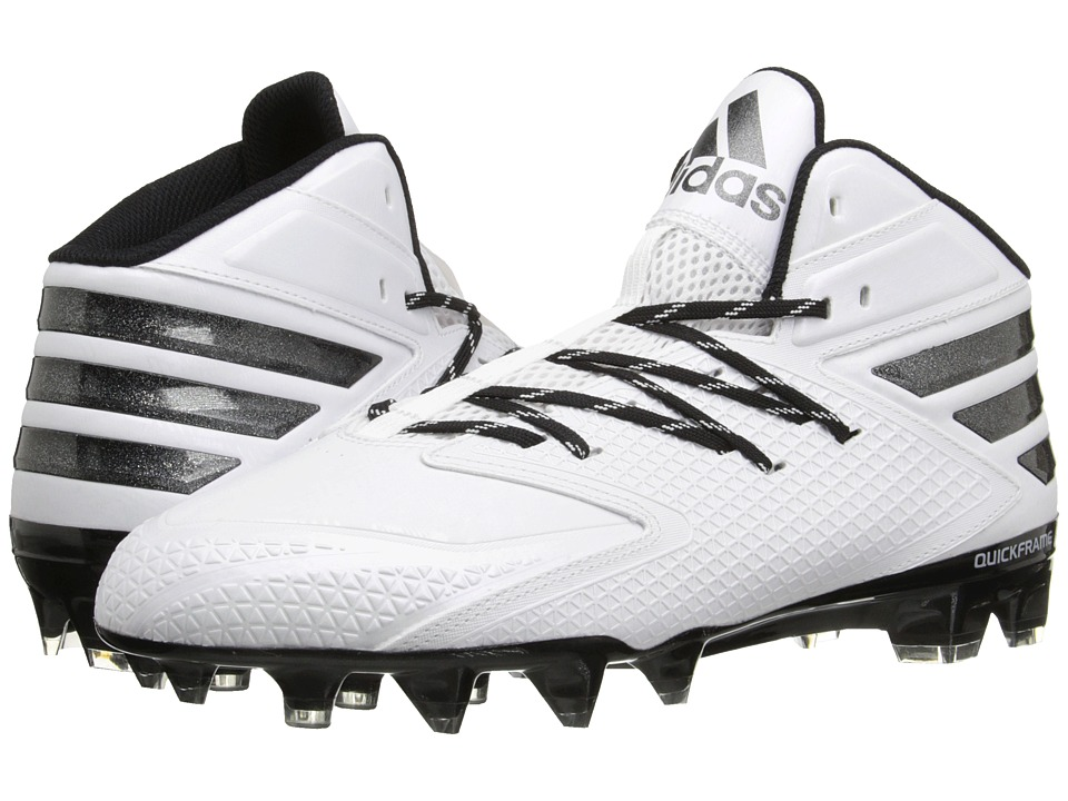 adidas - freak X CARBON Mid Football (White/Black) Men's Cleated Shoes