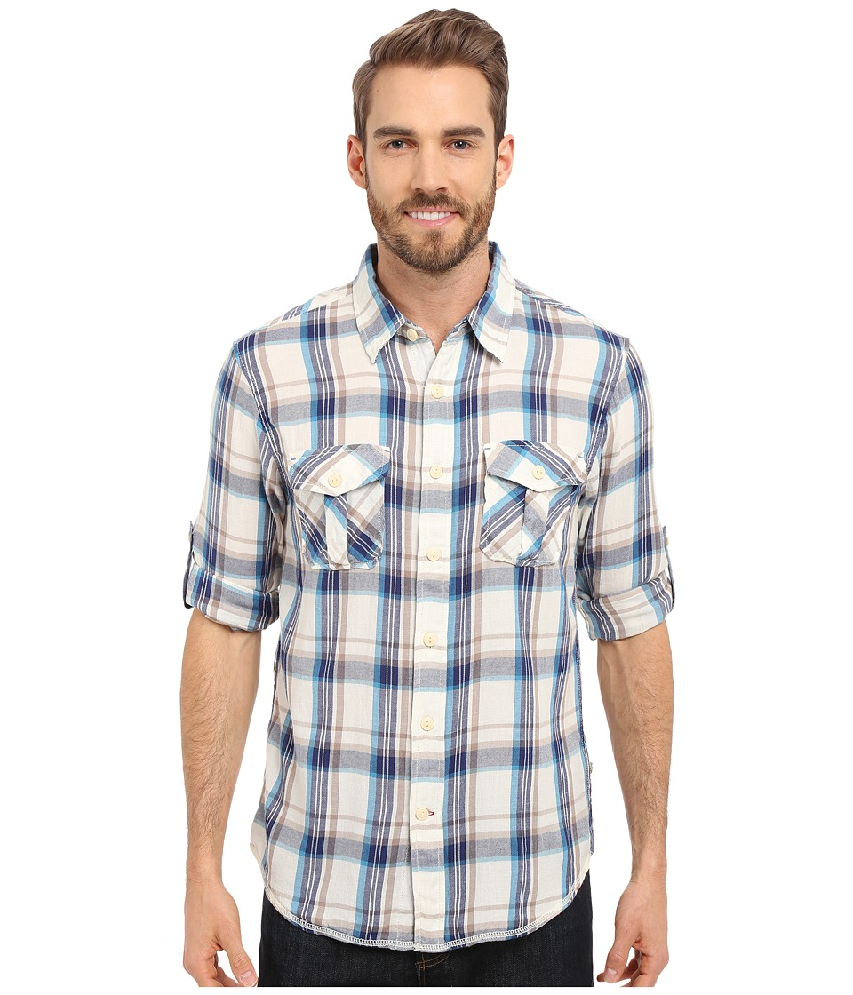 True Grit - Chelsea Harley Flannel (Blue/Natural) Men's Long Sleeve Button Up
